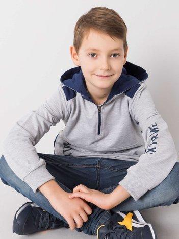 Szara bawełniana bluza dla chłopca