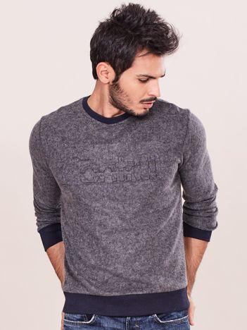 Szara bawełniana bluza męska