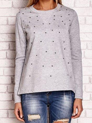 Szara bluza z aplikacją gwiazdek