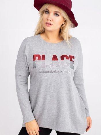 Szara bluzka plus size Gracie