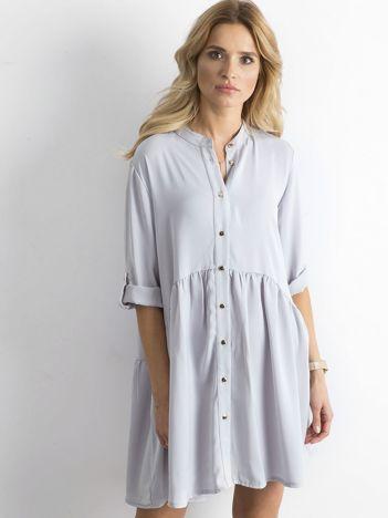 Szara damska sukienka oversize