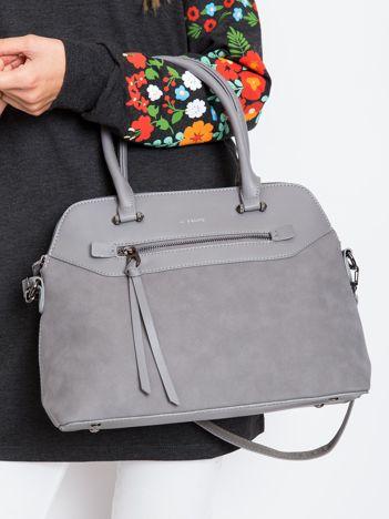Szara damska torba z ekoskóry