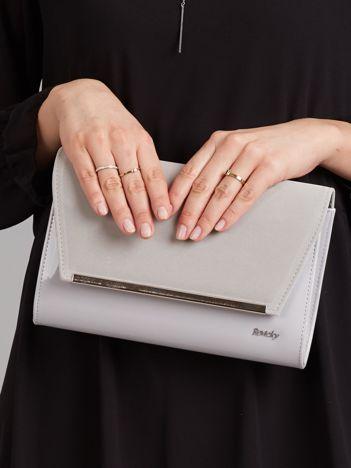 Szara damska torebka kopertówka