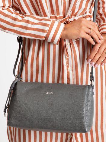 Szara damska torebka skórzana