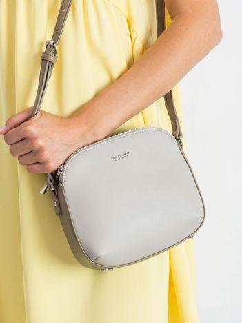 Szara-khaki torebka na ramię