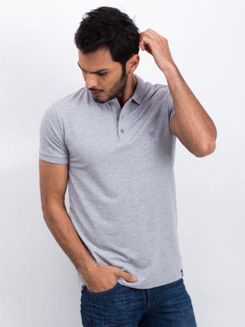 Szara męska koszulka polo Numerous