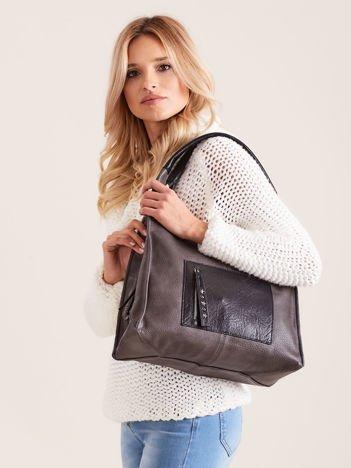 Szara miękka torba na ramię
