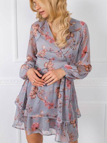 Szara sukienka Abbie RUE PARIS
