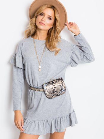 Szara sukienka Frills