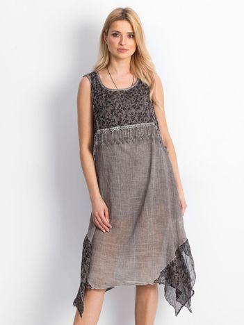 Szara sukienka Incredible