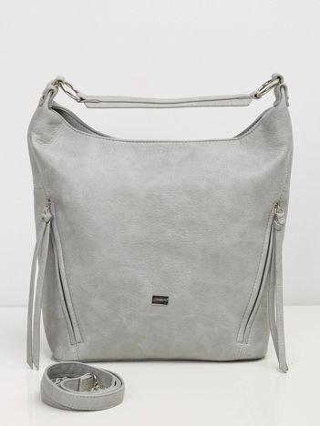 Szara torba na ramię city bag
