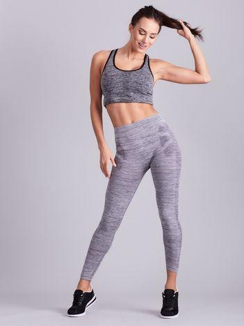 Szare damskie legginsy na fitness