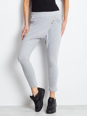 Szare damskie spodnie dresowe