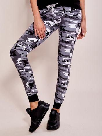 Szare damskie spodnie dresowe moro