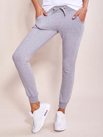 Szare dresowe spodnie damskie