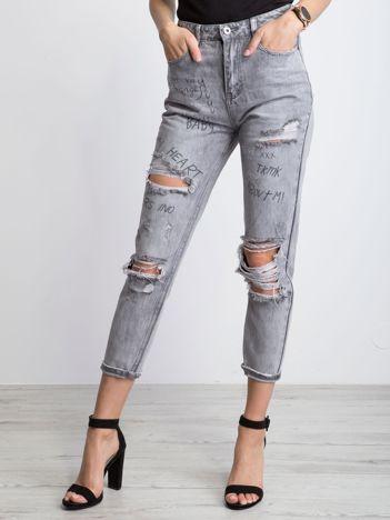 Szare jeansy Fiji