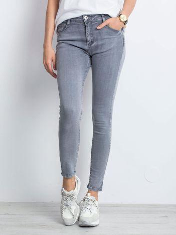 Szare jeansy Illusion