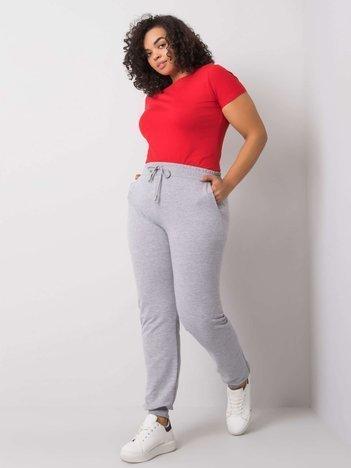 Szare melanżowe spodnie dresowe plus size Beatriz