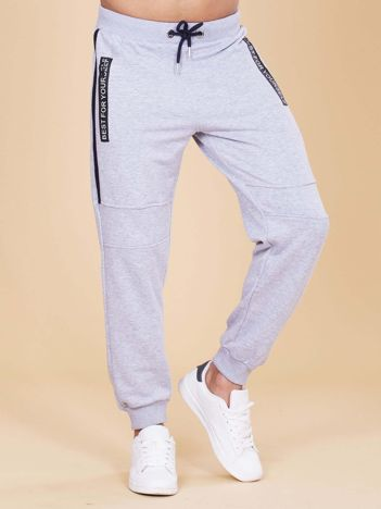 Szare męskie spodnie dresowe