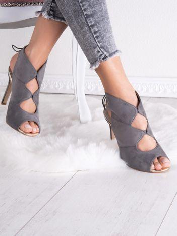Szare sandały SABATINA bez pięt