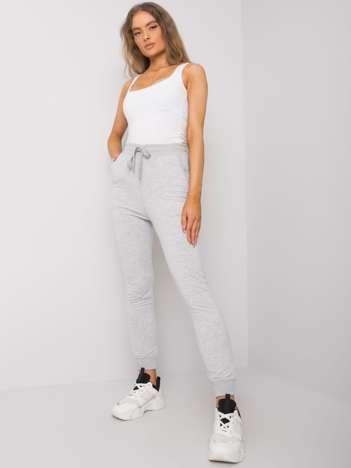 Szare spodnie dresowe damskie Shaila