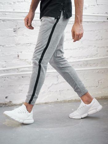 Szare spodnie dresowe męskie