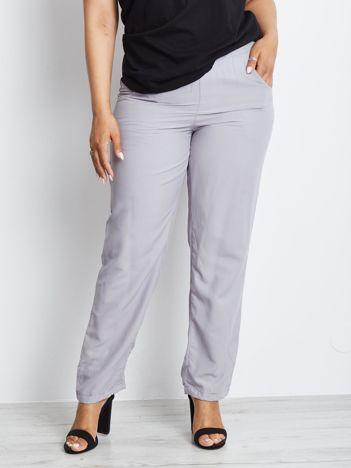 Szare spodnie plus size Explosively