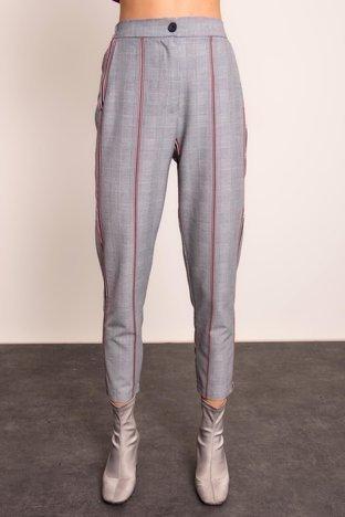 Szare spodnie w kratę BSL