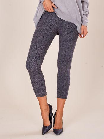Szare spodnie w pepitkę