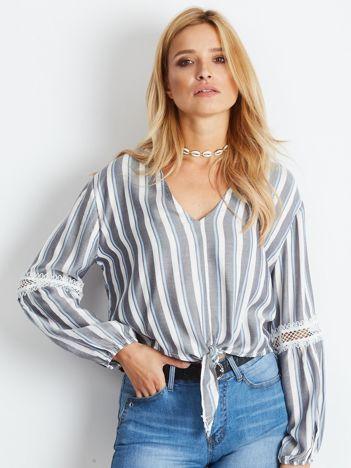 Szaro-biała bluzka Shortie