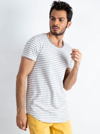 Szaro-biała koszulka męska Warner