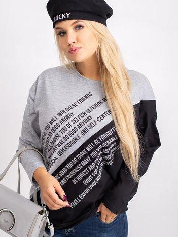 Szaro-czarna bluzka plus size Secretly