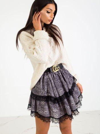 Szaro-czarna spódnica Flyer
