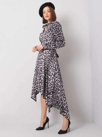 Szaro-czarna sukienka Tabitha RUE PARIS
