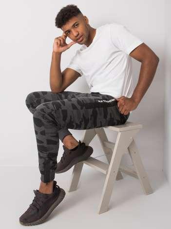 Szaro-czarne męskie spodnie dresowe Kayson