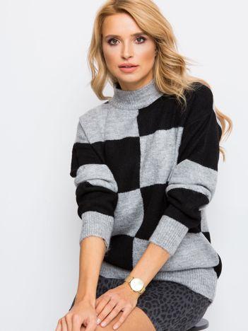 Szaro-czarny sweter Francesca