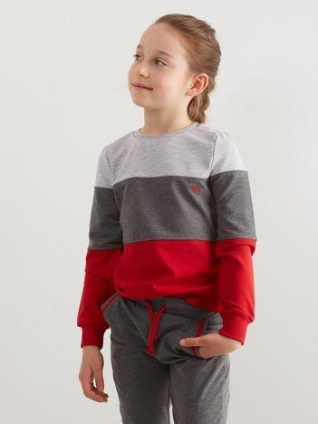 Szaro-czerwony komplet dziecięcy