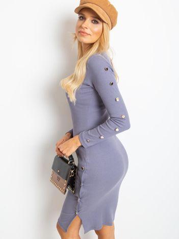 Szaro-fioletowa sukienka Infinity