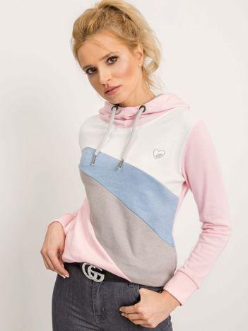 Szaro-różowa bluza Elodie