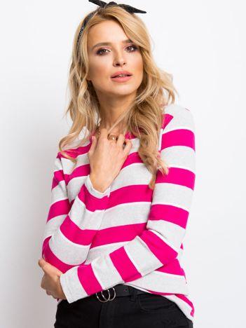 Szaro-różowa bluzka Ava