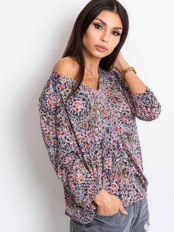 Szaro-różowa bluzka Marge