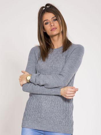 Szary damski sweter
