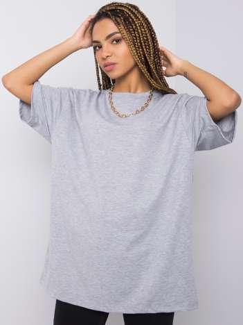 Szary melanżowy t-shirt Juliet RUE PARIS
