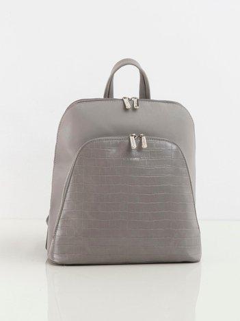 Szary plecak z kieszenią