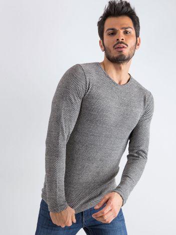 Szary sweter męski Mosaic