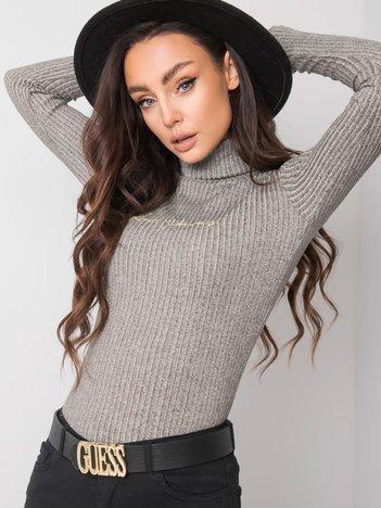 Szary sweter z golfem Aria RUE PARIS