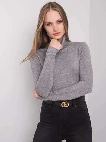Szary sweter z golfem Polly