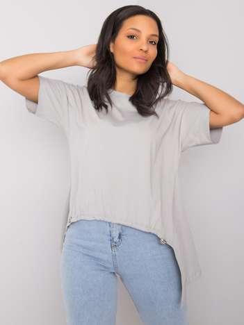 Szary t-shirt Alena RUE PARIS