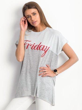 Szary t-shirt Balanced