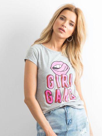 Szary t-shirt Girlgang